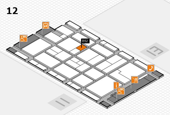 CARAVAN SALON 2017 Hallenplan (Halle 12): Stand B52