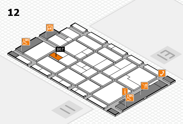 CARAVAN SALON 2017 hall map (Hall 12): stand B67