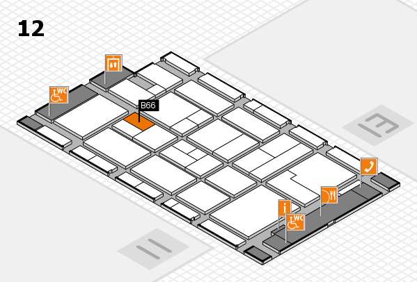 CARAVAN SALON 2017 hall map (Hall 12): stand B66