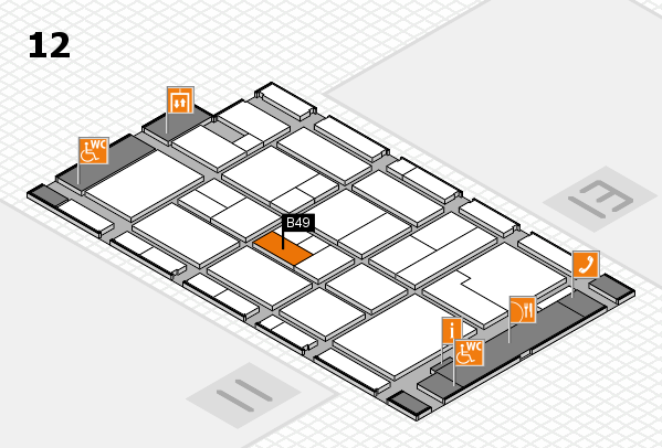 CARAVAN SALON 2017 Hallenplan (Halle 12): Stand B49