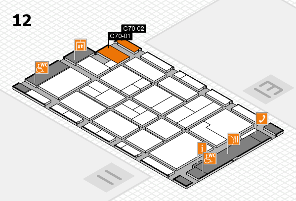 CARAVAN SALON 2017 hall map (Hall 12): stand C70-01, stand C70-02