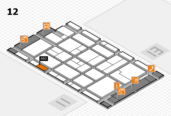 CARAVAN SALON 2017 hall map (Hall 12): stand A60