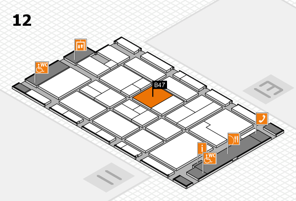 CARAVAN SALON 2017 hall map (Hall 12): stand B47