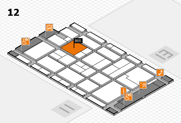CARAVAN SALON 2017 hall map (Hall 12): stand B65