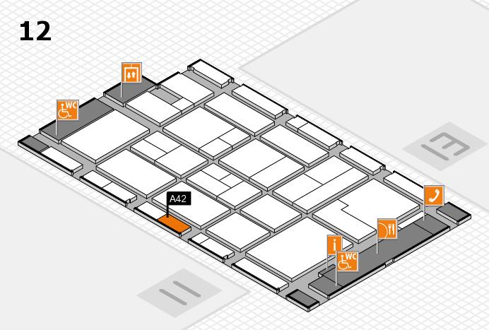 CARAVAN SALON 2017 Hallenplan (Halle 12): Stand A42