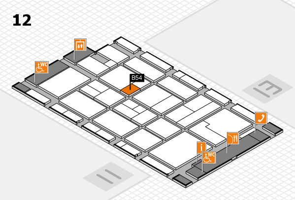CARAVAN SALON 2017 hall map (Hall 12): stand B54