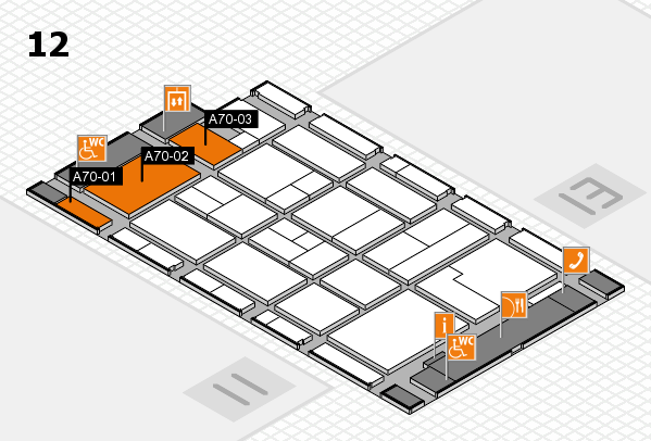 CARAVAN SALON 2017 hall map (Hall 12): stand A70-01, stand A70-03
