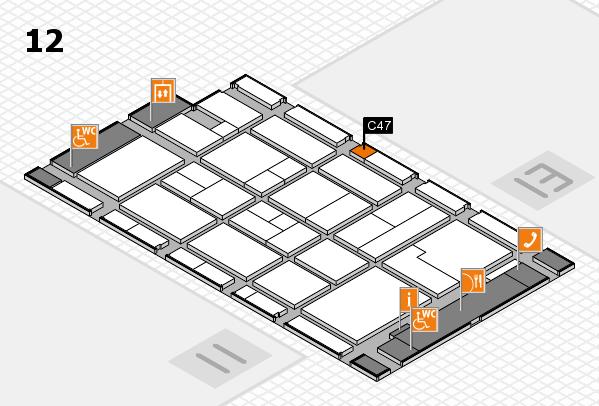 CARAVAN SALON 2017 hall map (Hall 12): stand C47