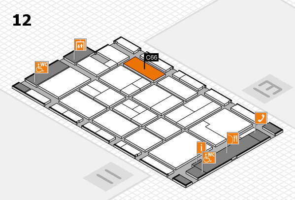 CARAVAN SALON 2017 hall map (Hall 12): stand C66