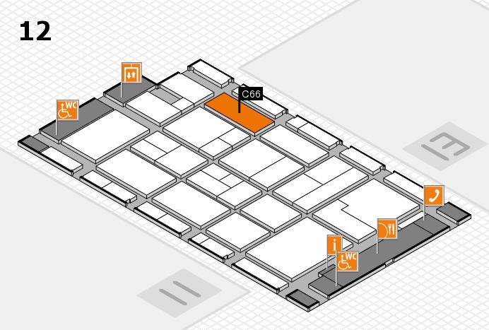 CARAVAN SALON 2017 hall map (Hall 12): stand C66