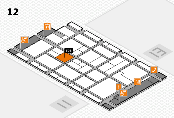 CARAVAN SALON 2017 hall map (Hall 12): stand B58