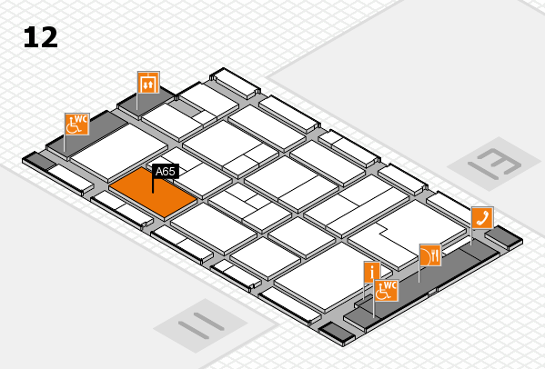 CARAVAN SALON 2017 hall map (Hall 12): stand A65