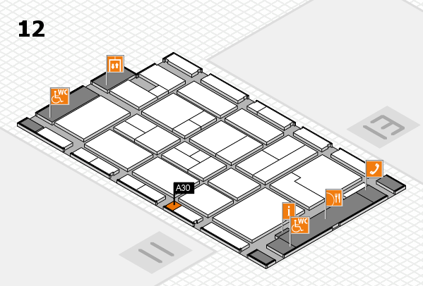 CARAVAN SALON 2017 hall map (Hall 12): stand A30