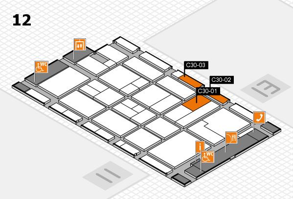 CARAVAN SALON 2017 Hallenplan (Halle 12): Stand C30-01, Stand C30-03