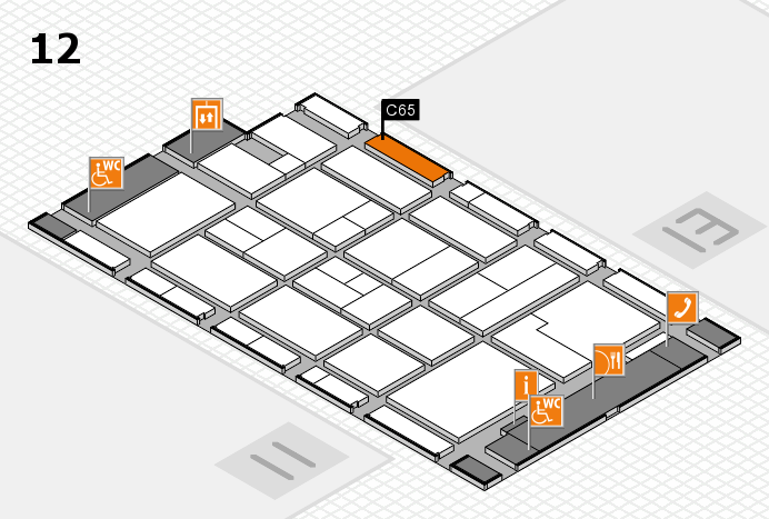 CARAVAN SALON 2017 hall map (Hall 12): stand C65