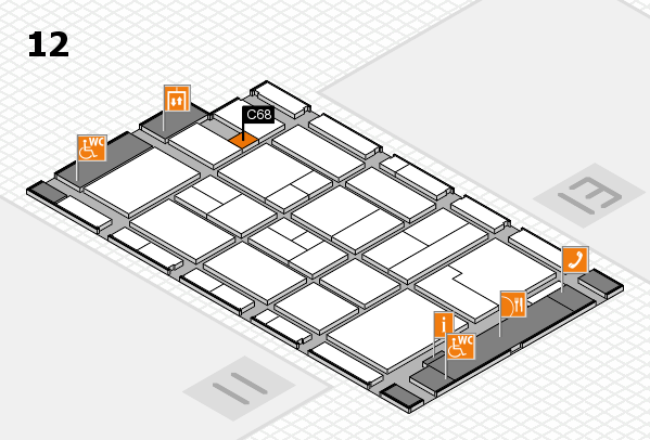 CARAVAN SALON 2017 hall map (Hall 12): stand C68