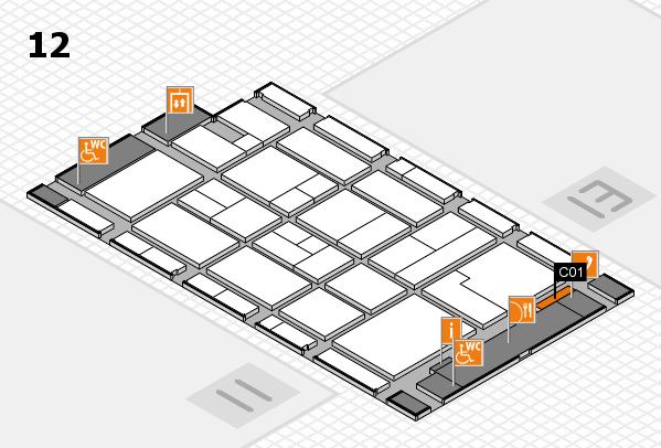 CARAVAN SALON 2017 hall map (Hall 12): stand C01