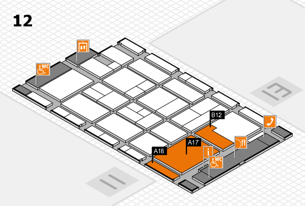 CARAVAN SALON 2017 hall map (Hall 12): stand A17, stand B12