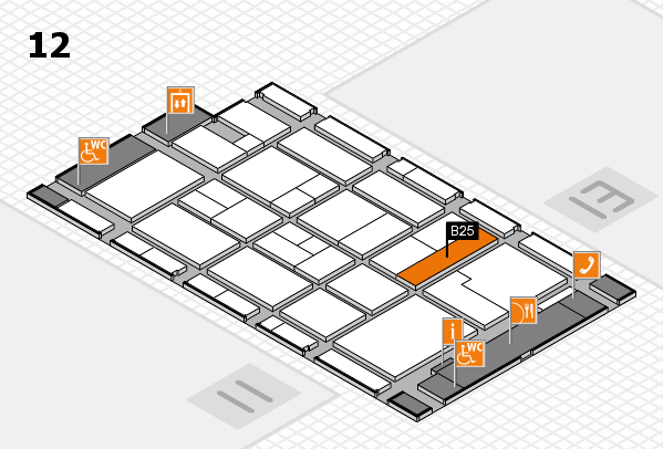 CARAVAN SALON 2017 Hallenplan (Halle 12): Stand B25