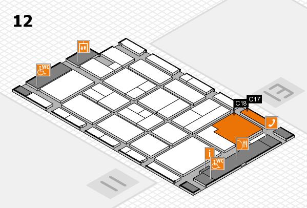CARAVAN SALON 2017 hall map (Hall 12): stand C17, stand C18