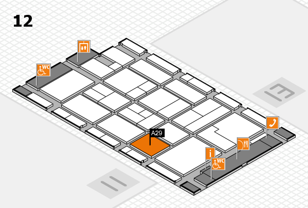 CARAVAN SALON 2017 hall map (Hall 12): stand A29