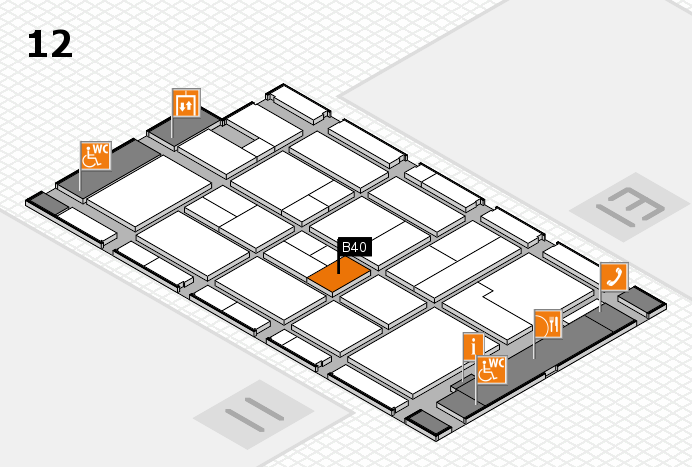 CARAVAN SALON 2017 hall map (Hall 12): stand B40