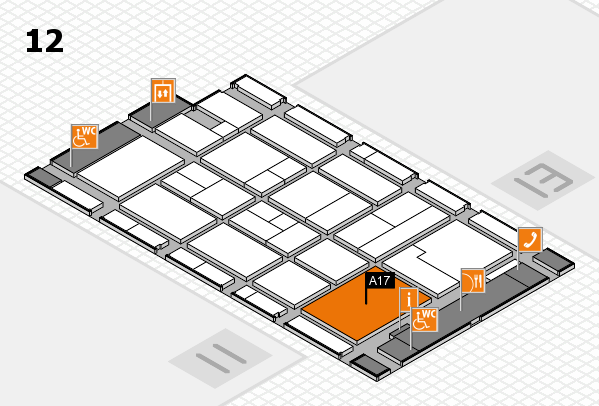 CARAVAN SALON 2017 hall map (Hall 12): stand A17