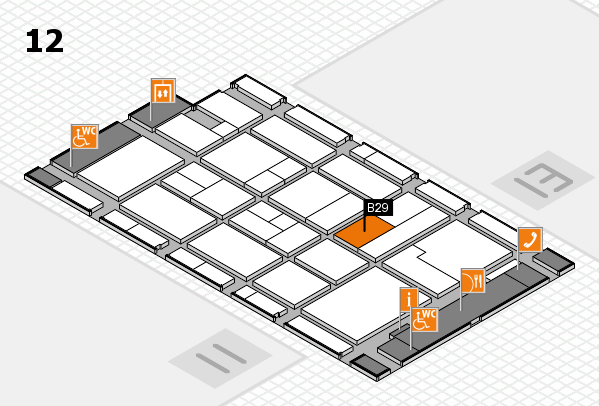 CARAVAN SALON 2017 hall map (Hall 12): stand B29