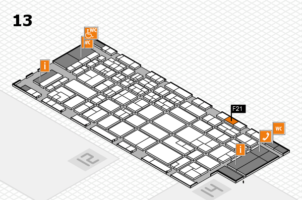 CARAVAN SALON 2017 hall map (Hall 13): stand F21