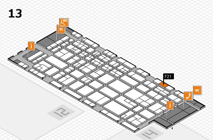 CARAVAN SALON 2017 hall map (Hall 13): stand F21