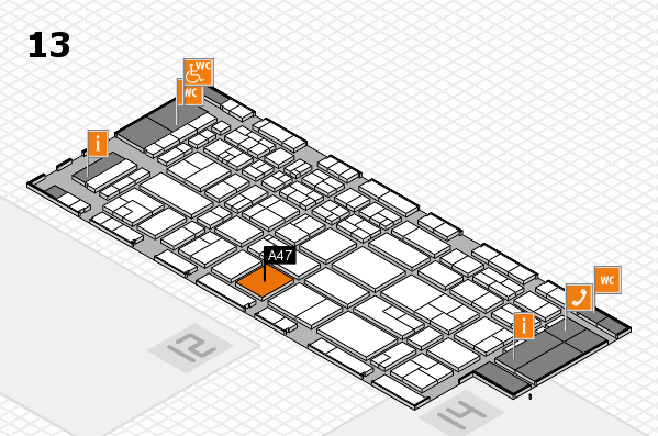 CARAVAN SALON 2017 Hallenplan (Halle 13): Stand A47