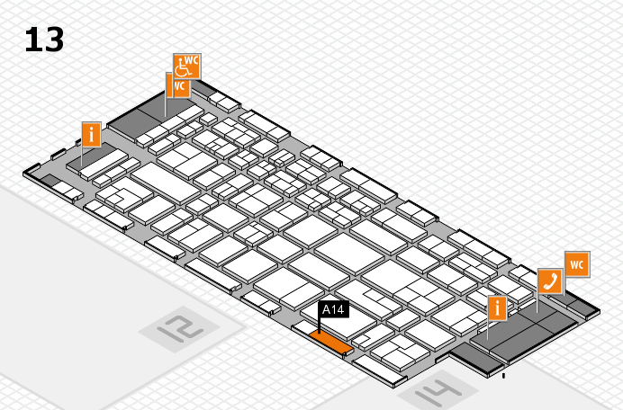 CARAVAN SALON 2017 Hallenplan (Halle 13): Stand A14