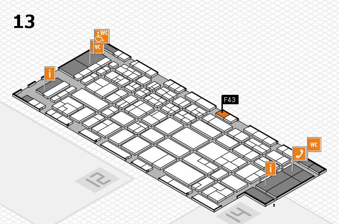 CARAVAN SALON 2017 Hallenplan (Halle 13): Stand F43
