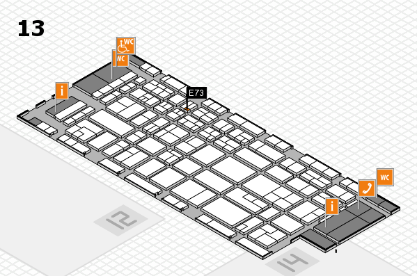 CARAVAN SALON 2017 hall map (Hall 13): stand E73