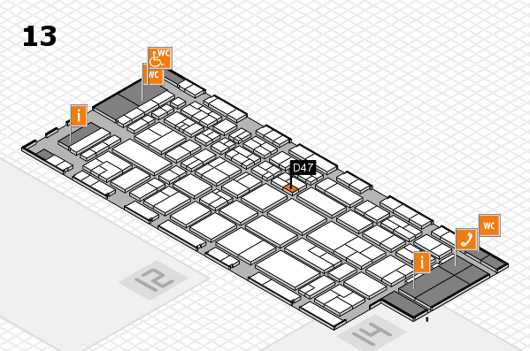 CARAVAN SALON 2017 hall map (Hall 13): stand D47