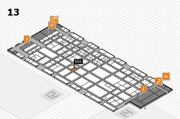 CARAVAN SALON 2017 Hallenplan (Halle 13): Stand B55