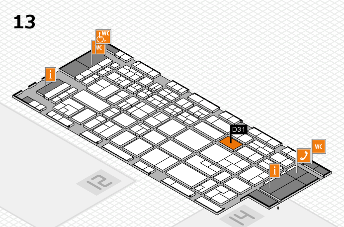 CARAVAN SALON 2017 Hallenplan (Halle 13): Stand D31