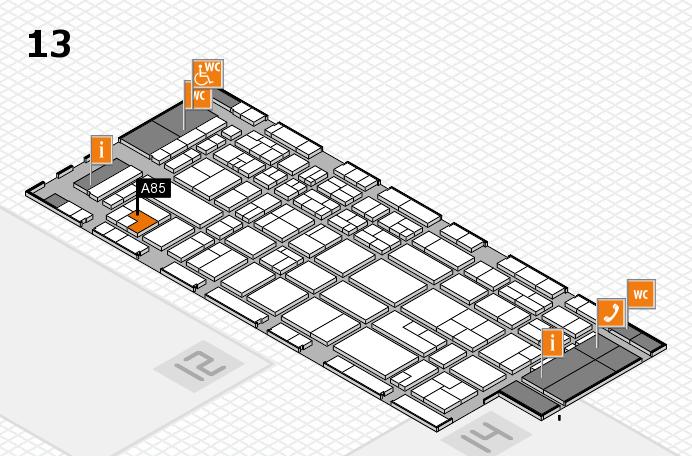 CARAVAN SALON 2017 hall map (Hall 13): stand A85