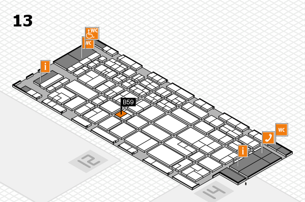 CARAVAN SALON 2017 hall map (Hall 13): stand B59