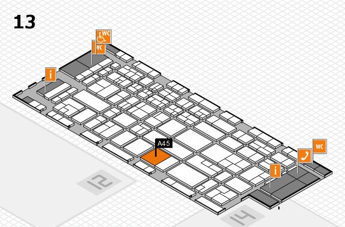 CARAVAN SALON 2017 Hallenplan (Halle 13): Stand A45