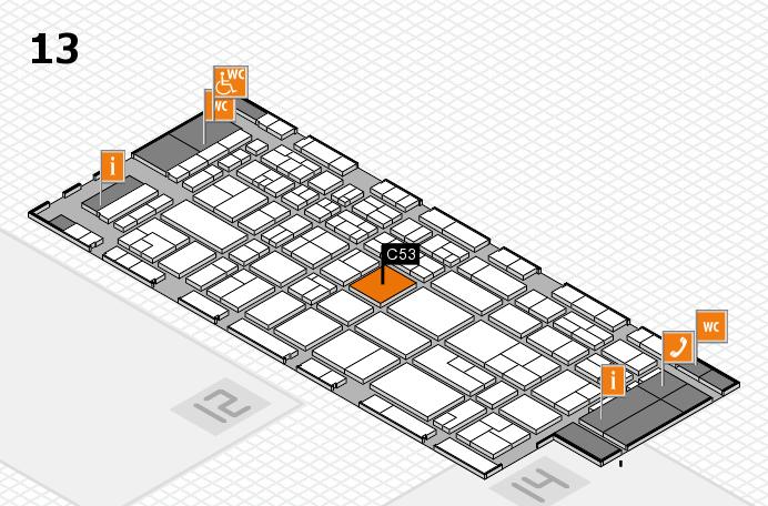 CARAVAN SALON 2017 Hallenplan (Halle 13): Stand C53