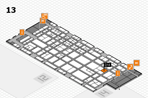 CARAVAN SALON 2017 hall map (Hall 13): stand D14