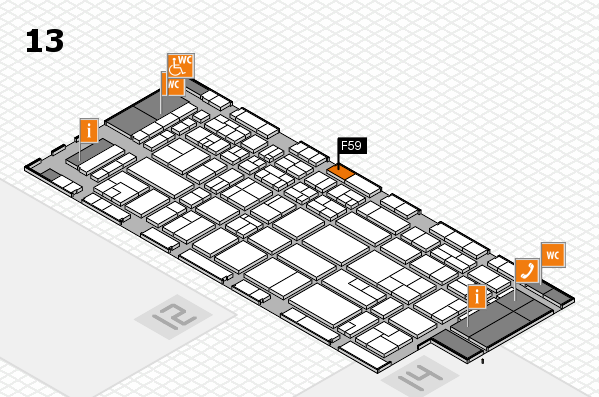 CARAVAN SALON 2017 hall map (Hall 13): stand F59