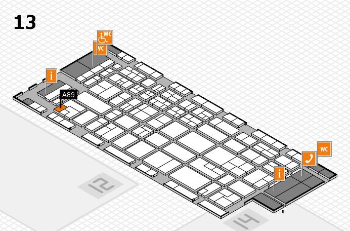 CARAVAN SALON 2017 Hallenplan (Halle 13): Stand A89