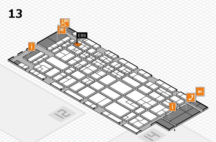 CARAVAN SALON 2017 Hallenplan (Halle 13): Stand E89