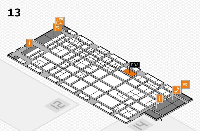 CARAVAN SALON 2017 Hallenplan (Halle 13): Stand E33