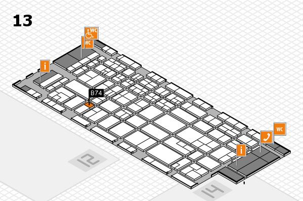 CARAVAN SALON 2017 hall map (Hall 13): stand B74