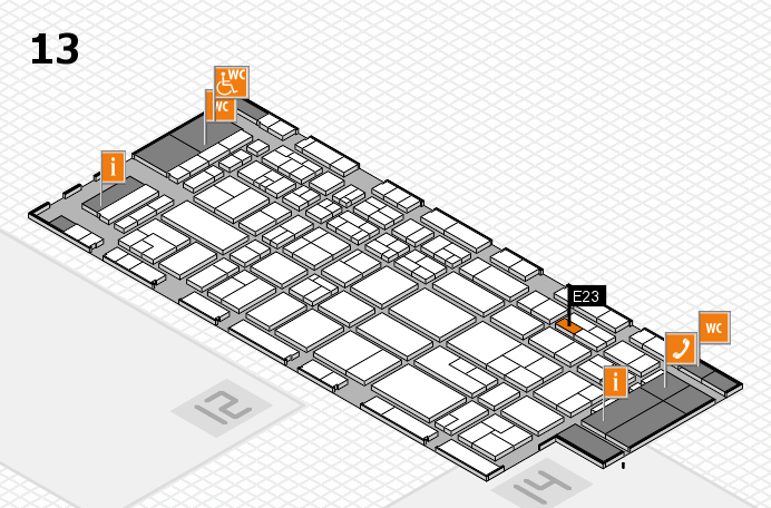 CARAVAN SALON 2017 Hallenplan (Halle 13): Stand E23