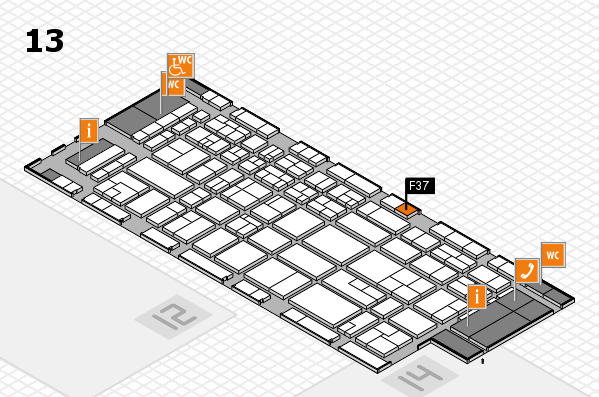 CARAVAN SALON 2017 hall map (Hall 13): stand F37