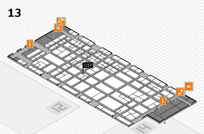 CARAVAN SALON 2017 Hallenplan (Halle 13): Stand C57